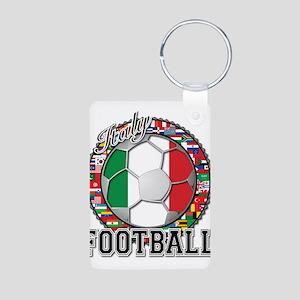 Italy Flag World Cup Football Aluminum Photo Keych