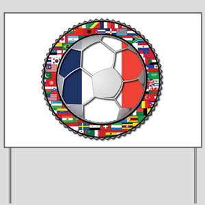 France Flag World Cup Footbal Yard Sign