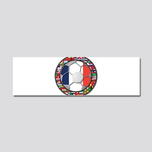 France Flag World Cup Footbal Car Magnet 10 x 3