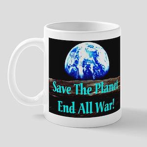 Save The Planet End All War S Mug