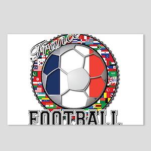 France Flag World Cup Footbal Postcards (Package o