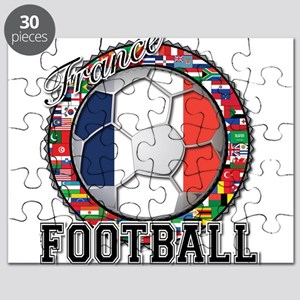 France Flag World Cup Footbal Puzzle