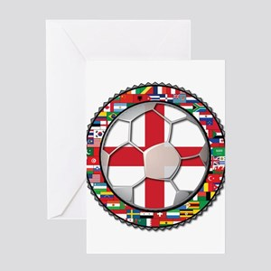 England Flag World Cup Footba Greeting Card