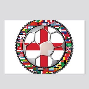 England Flag World Cup Footba Postcards (Package o