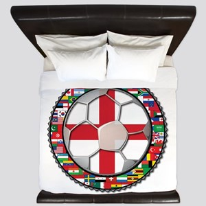 England Flag World Cup Footba King Duvet