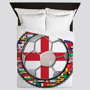 England Flag World Cup Footba Queen Duvet