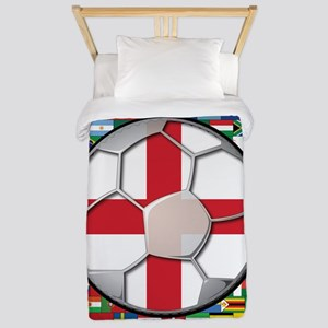 England Flag World Cup Footba Twin Duvet