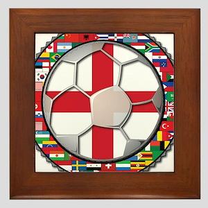 England Flag World Cup Footba Framed Tile