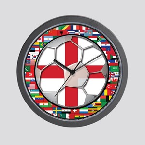 England Flag World Cup Footba Wall Clock