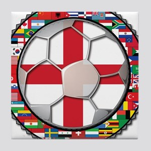 England Flag World Cup Footba Tile Coaster