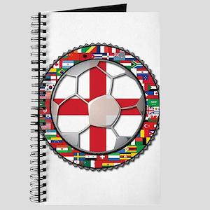 England Flag World Cup Footba Journal
