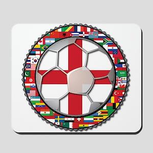 England Flag World Cup Footba Mousepad