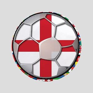 "England Flag World Cup Footba 3.5"" Button"