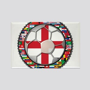 England Flag World Cup Footba Rectangle Magnet