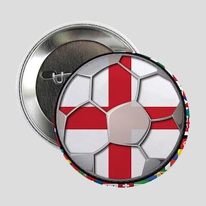 "England Flag World Cup Footba 2.25"" Button"