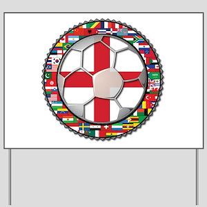 England Flag World Cup Footba Yard Sign