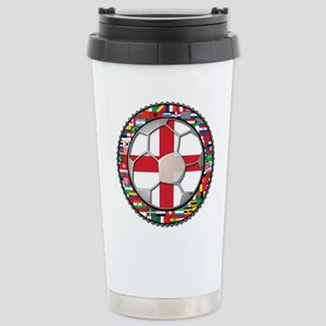 England Flag World Cup Footba Stainless Steel Trav