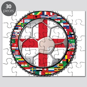 England Flag World Cup Footba Puzzle