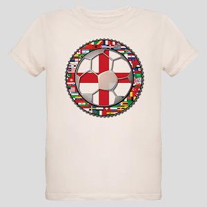 England Flag World Cup Footba Organic Kids T-Shirt