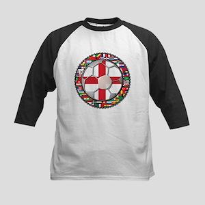 England Flag World Cup Footba Kids Baseball Jersey