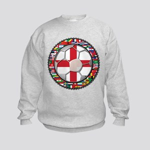 England Flag World Cup Footba Kids Sweatshirt