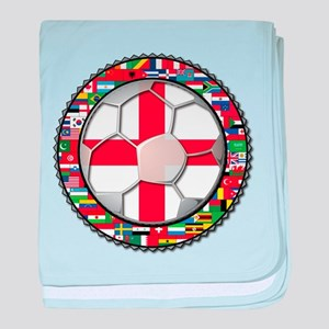 England Flag World Cup Footba baby blanket