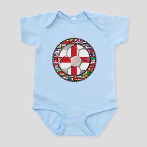 England Flag World Cup Footba Infant Bodysuit