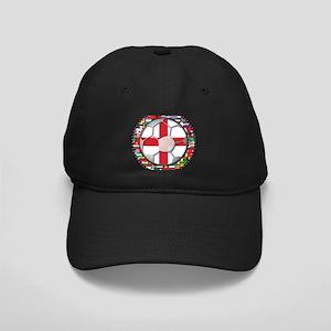 England Flag World Cup Footba Black Cap