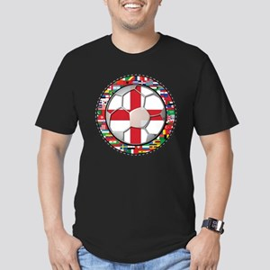 England Flag World Cup Footba Men's Fitted T-Shirt