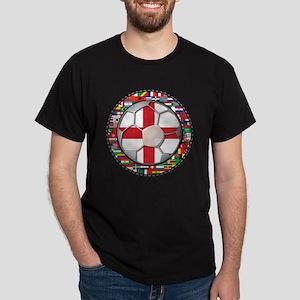 England Flag World Cup Footba Dark T-Shirt