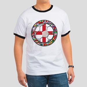 England Flag World Cup Footba Ringer T