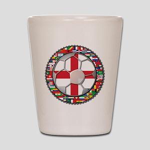 England Flag World Cup Footba Shot Glass