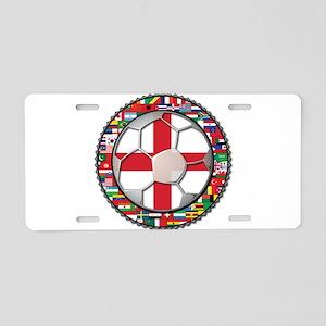 England Flag World Cup Footba Aluminum License Pla