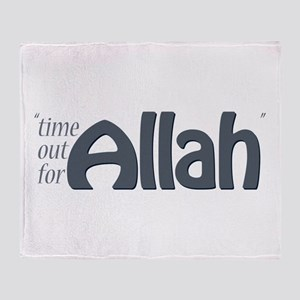 """""""Time for ALLAH"""" Throw Blanket"""
