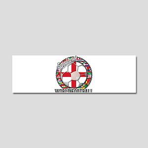 England Flag World Cup Footba Car Magnet 10 x 3