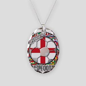 England Flag World Cup Footba Necklace Oval Charm