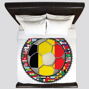 Belgium Flag World Cup Footba King Duvet