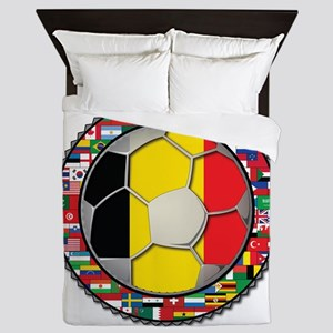 Belgium Flag World Cup Footba Queen Duvet