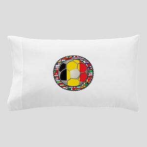Belgium Flag World Cup Footba Pillow Case
