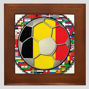 Belgium Flag World Cup Footba Framed Tile
