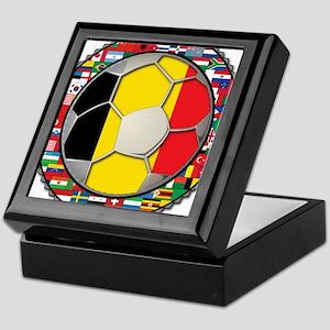 Belgium Flag World Cup Footba Keepsake Box
