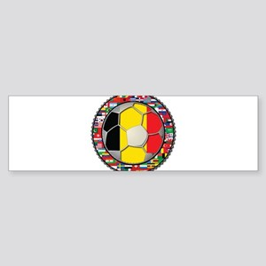 Belgium Flag World Cup Footba Sticker (Bumper)