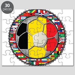 Belgium Flag World Cup Footba Puzzle