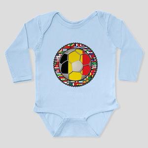 Belgium Flag World Cup Footba Long Sleeve Infant B