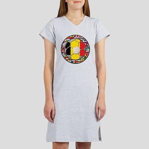 Belgium Flag World Cup Footba Women's Nightshirt