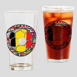 Belgium Flag World Cup Footba Drinking Glass