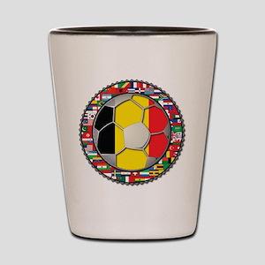 Belgium Flag World Cup Footba Shot Glass