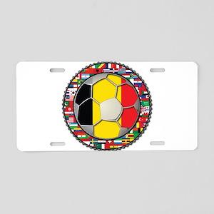 Belgium Flag World Cup Footba Aluminum License Pla