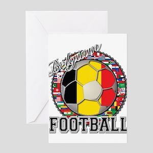 Belgium Flag World Cup Footba Greeting Card