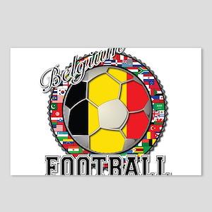 Belgium Flag World Cup Footba Postcards (Package o